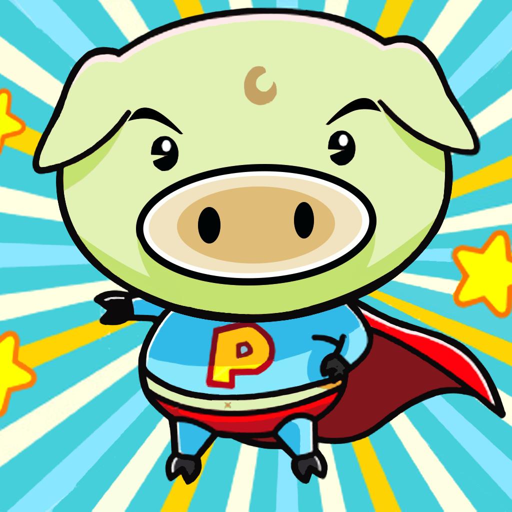 A Happy Ham in Run Adventures - Piggies for Kids PRO